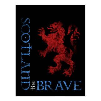 Escocia apenada el diseño desenfrenado del león postal