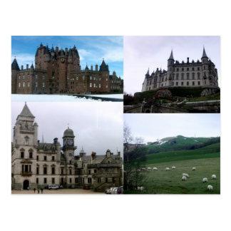 Escocia (cuatro imágenes) postal
