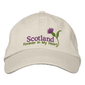 Escocia en mi corazón gorra bordada