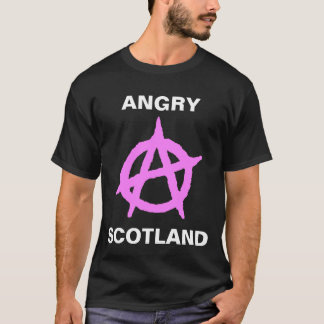 Escocia enojada camiseta