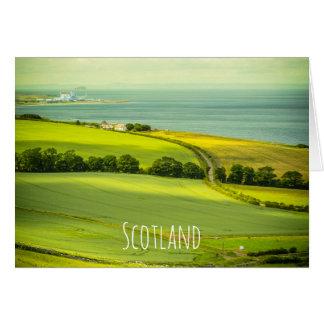 Escocia hermosa, tarjeta de felicitación