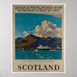 Escocia Kyle del poster del viaje del vintage de