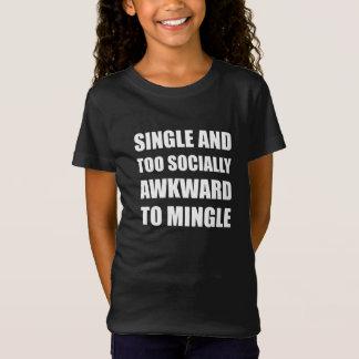 Escoja social torpe mezclan camiseta