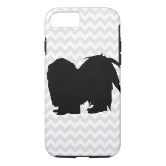 Escoja su silueta de Chevron Shih Tzu del color Funda Para iPhone 8/7