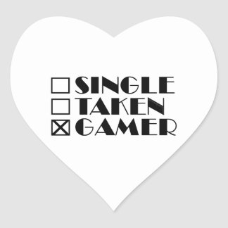 Escoja tomado o videojugador pegatina en forma de corazón