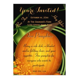 Escoja un fiesta de la calabaza invitación 13,9 x 19,0 cm