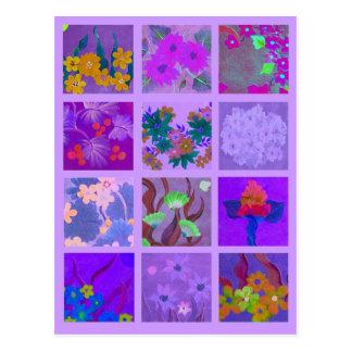 Escoja un paquete de la miniatura púrpura del arte postal