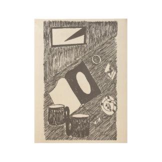 Escondrijos y grietas póster de madera