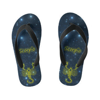 Escorpión brillante chanclas para niños