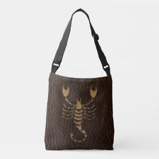 Escorpión de la Cuero-Mirada Bolso Cruzado