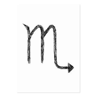 Escorpión Muestra de la astrología del zodiaco Plantillas De Tarjetas Personales