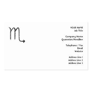 Escorpión. Muestra de la astrología del zodiaco. Tarjetas De Visita