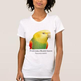 Escote redondo dirigido amarillo doble del Amazona Camiseta