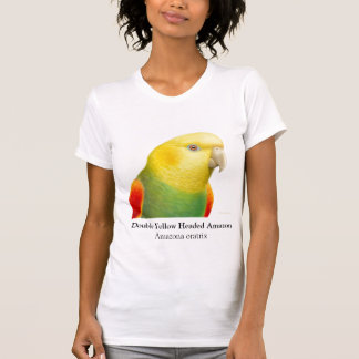 Escote redondo dirigido amarillo doble del camiseta