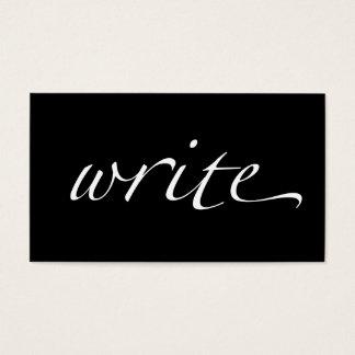 Escriba: Escritor, Copywriter, escritor free lance Tarjeta De Negocios
