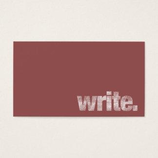 Escriba: Escritor free lance, Marsala autor Tarjeta De Negocios