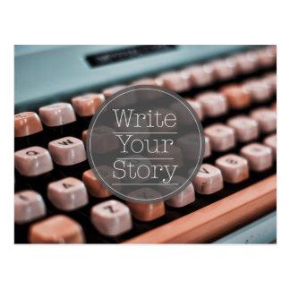 Escriba su historia postal