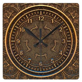 ESCRIBANO del TIEMPO el | un estilo antiguo Reloj Cuadrado