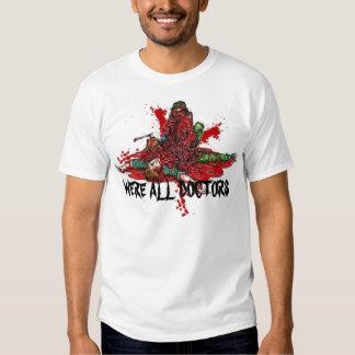 Escrito en camiseta de la sangre
