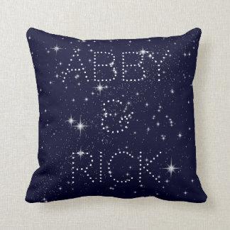 Escrito en la almohada de tiro de las estrellas