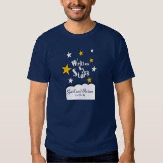 Escrito en las estrellas que casan las camisetas