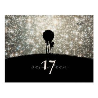 Escrito en las estrellas - tarjeta del número de l postales