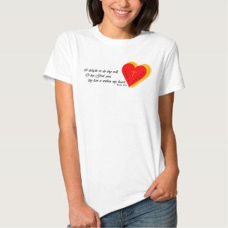 Escrito en mi corazón camiseta