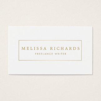 Escritor blanco de lujo simple, tarjeta de visita