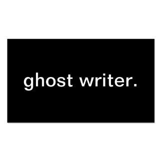 Escritor de fantasma tarjetas de visita