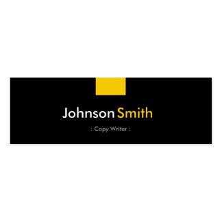 Escritor de la copia - acuerdo amarillo ambarino plantillas de tarjetas personales