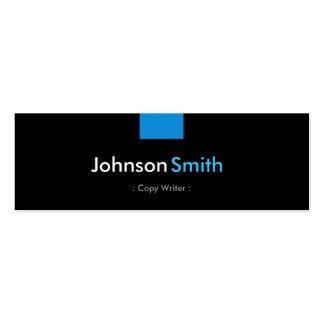 Escritor de la copia - acuerdo azul de la aguamari tarjeta de negocio