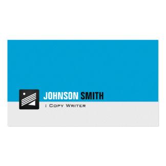 Escritor de la copia - aguamarina personal azul tarjetas de visita