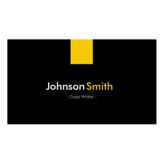 Escritor de la copia - amarillo ambarino moderno tarjetas de visita