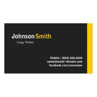 Escritor de la copia - ámbar minimalista moderno plantilla de tarjeta de visita