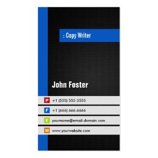 Escritor de la copia - azul elegante moderno tarjetas de visita