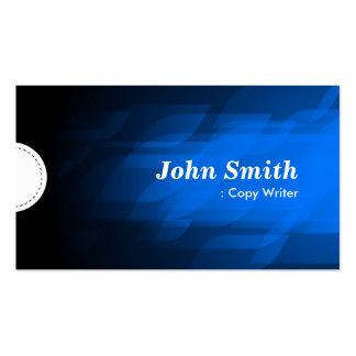 Escritor de la copia - azul marino moderno tarjeta personal
