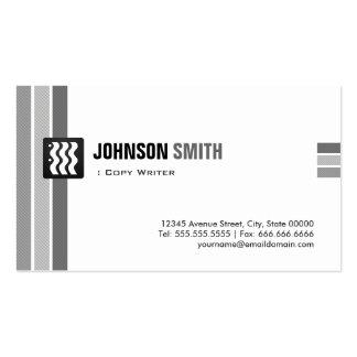 Escritor de la copia - blanco negro creativo plantillas de tarjetas de visita