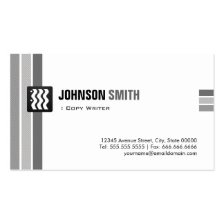 Escritor de la copia - blanco negro creativo tarjetas de visita