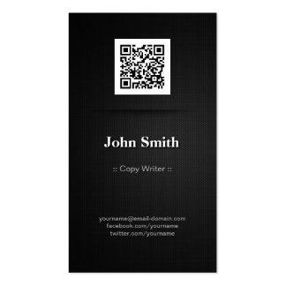 Escritor de la copia - código elegante del negro tarjetas de visita