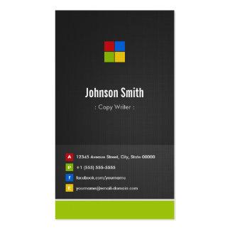 Escritor de la copia - colorido creativo superior plantilla de tarjeta de negocio