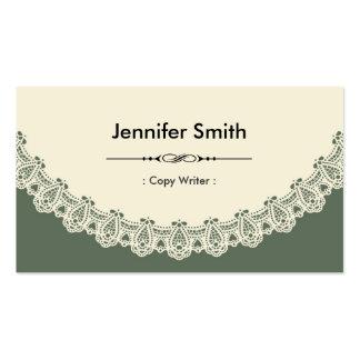 Escritor de la copia - cordón elegante retro tarjetas de visita