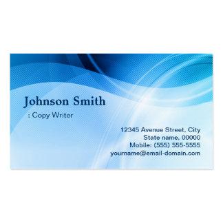 Escritor de la copia - creativo azul moderno tarjeta de visita