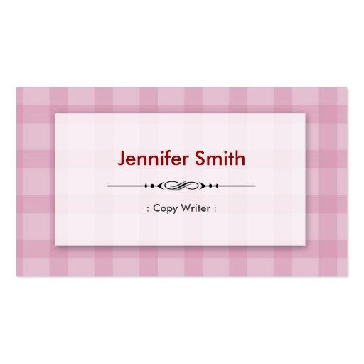 Escritor de la copia - cuadrados rosados bonitos tarjeta de visita