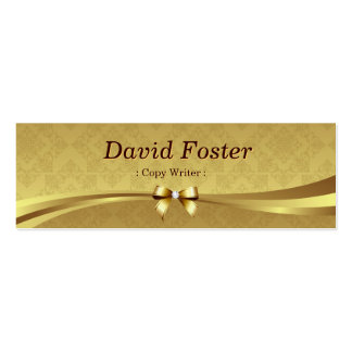 Escritor de la copia - damasco brillante del oro tarjeta de negocio