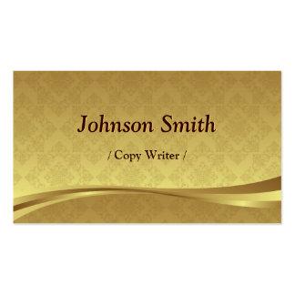 Escritor de la copia - damasco elegante del oro tarjetas de visita