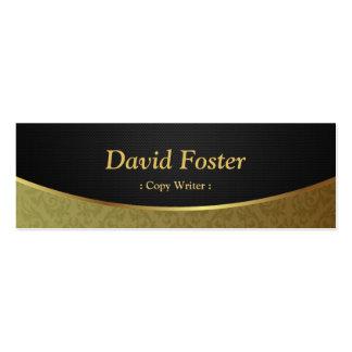 Escritor de la copia - damasco negro del oro plantillas de tarjetas personales
