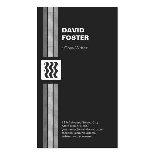 Escritor de la copia - el doble superior echó a un plantillas de tarjetas de visita
