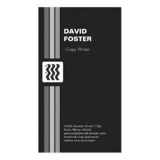 Escritor de la copia - el doble superior echó a un tarjetas de visita