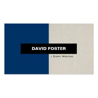 Escritor de la copia - elegante elegante simple tarjetas de visita