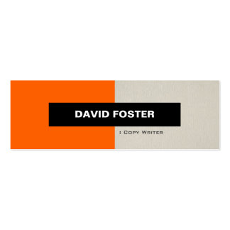 Escritor de la copia - elegante elegante simple plantilla de tarjeta de visita